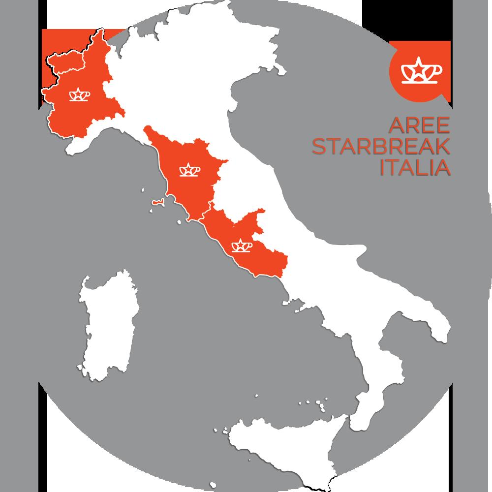 Italia, Mappa Aree Starbreak