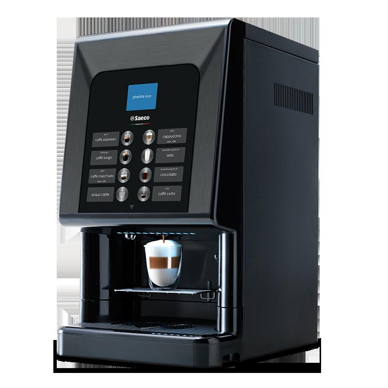 Macchina automatica per caffè e cappuccino, Saeco Phedra Evo.