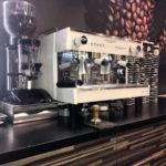 vetro visacrem macchina caffè professionale a due bracci