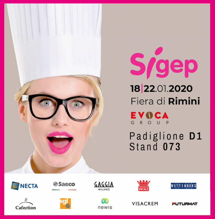 Sigep Rimini, Evoca Group, Padiglione D1, Stand 073