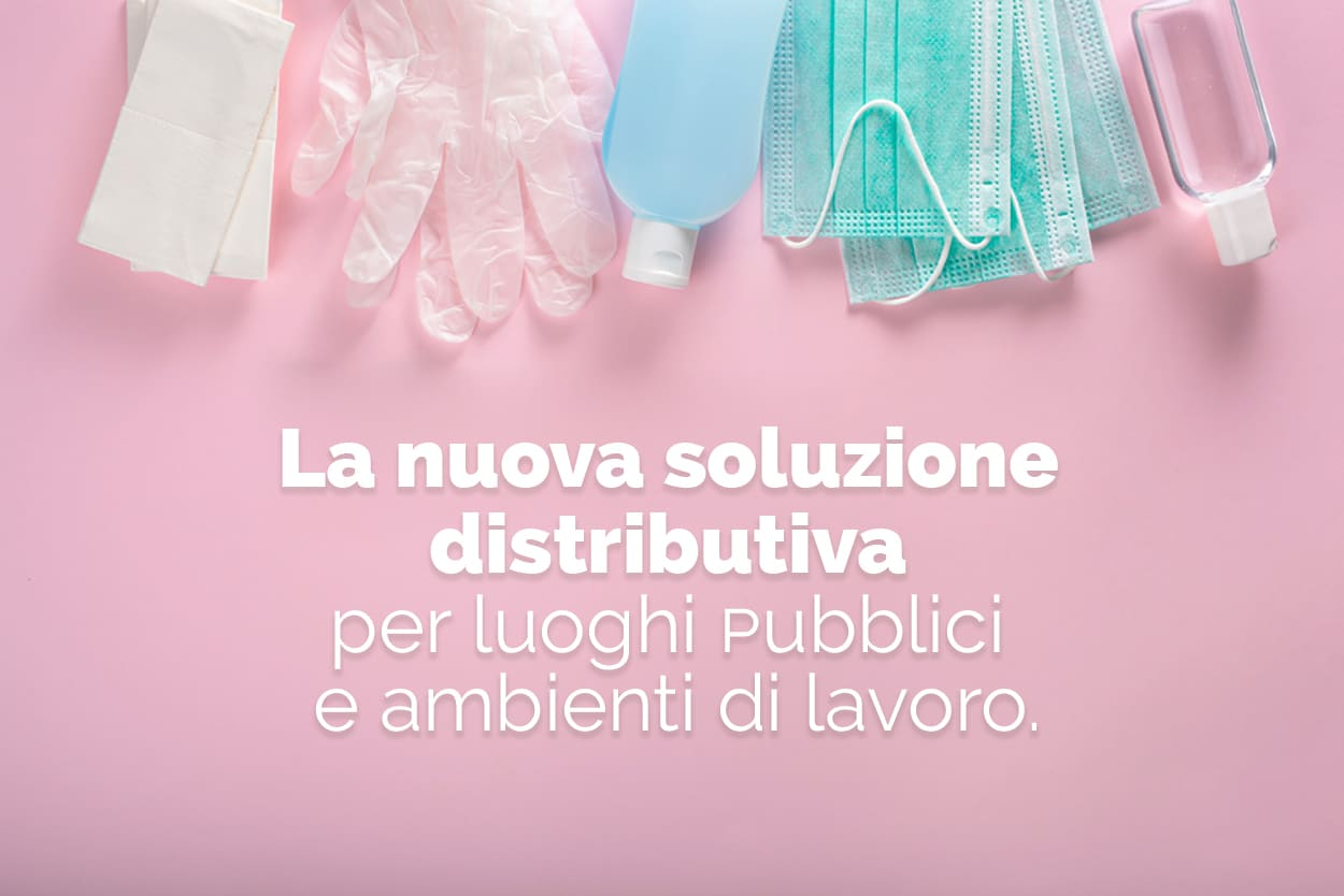 distributore mascherine gel guanti salviette igienizzanti