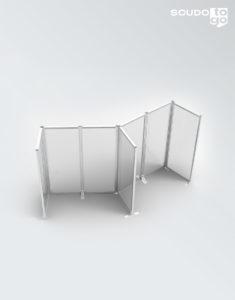 pannelli in plexiglass, composizione a muro divisore