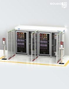 pannello divisore plexiglass composizione a muro divisore per aree distributori automatici