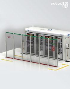 pannello divisore plexiglass composizione a muro divisore per aree distributori automatici caffè
