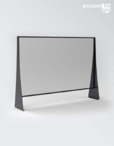 pannello divisore plexiglass con vano inferiore nero