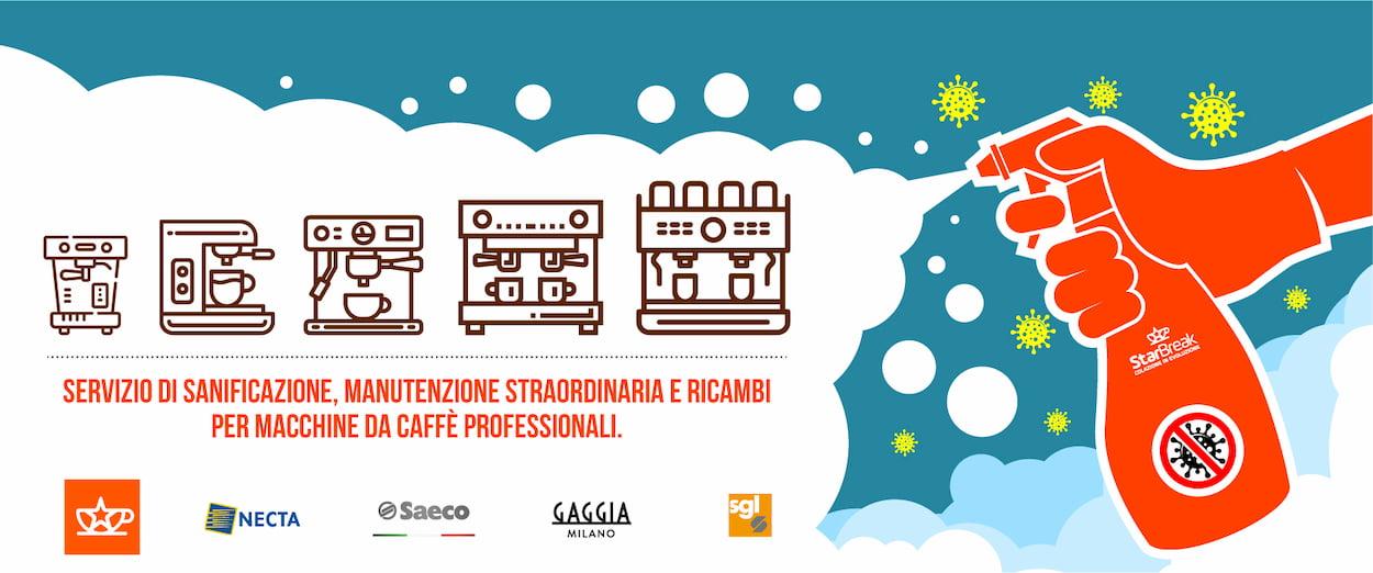 Sanificazione Firenze macchine caffè Toscana e Umbria