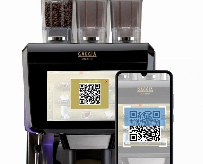 gaggia la radiosa touch, coffee app qr code