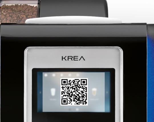 necta krea touch, coffee app necta kalea touch, coffee app qr code