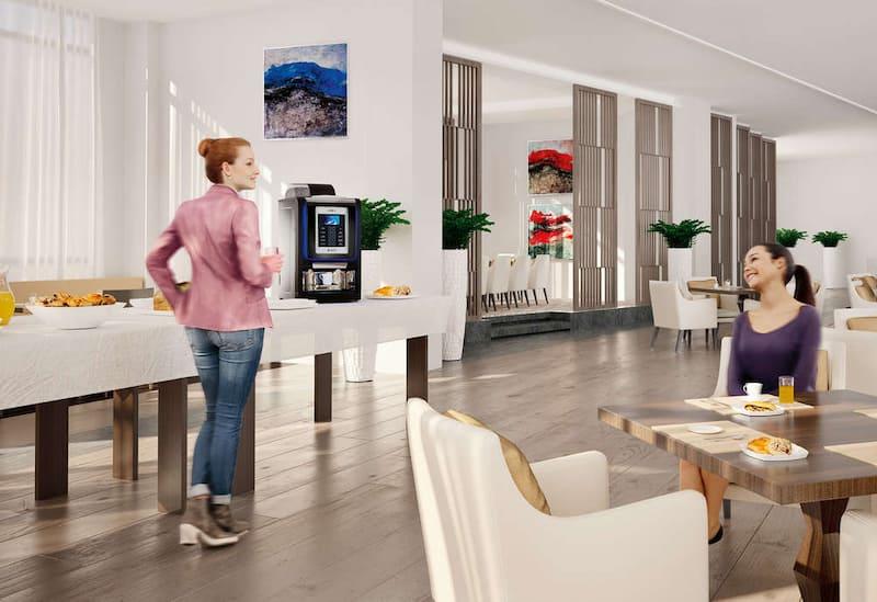 necta macchine da caffè hotel sala colazione